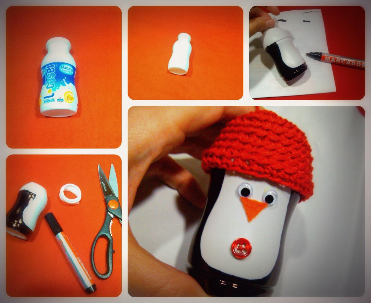 Adornos de Navidad Reciclados: Pingüino   Creatividad en Tiempo de